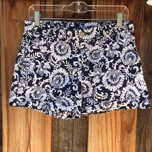 GAP Navy Blue and White Floral design Shorts